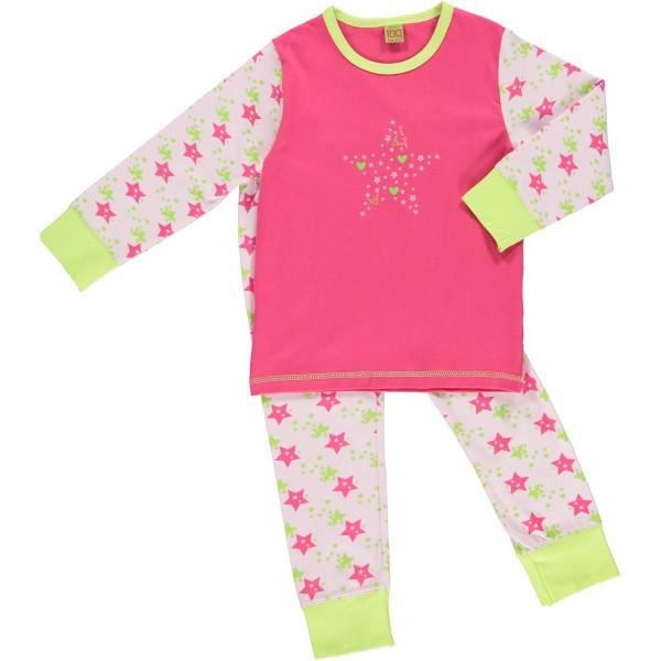 Celavi Mädchen Schlafanzug Sternchen pink