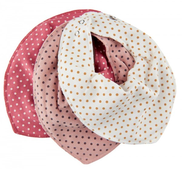 Pippi Mädchen Halstücher 3er Pack Misty Rose Dots