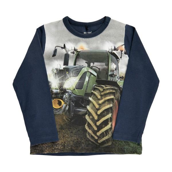 Metoo Kinder Traktor Langarmshirt dark blue
