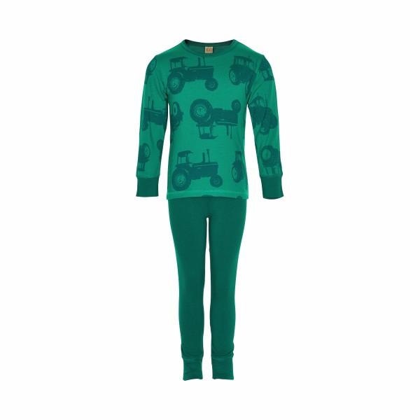Celavi Traktor Schlafanzug grün