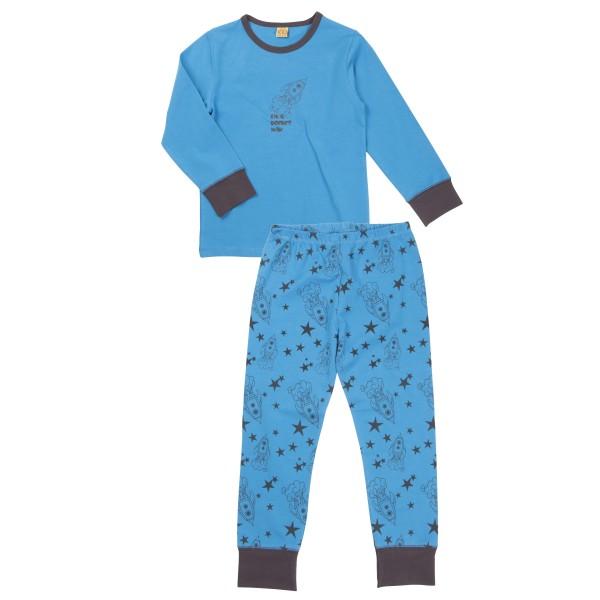 Celavi Schlafanzug Rakete kobaltblau