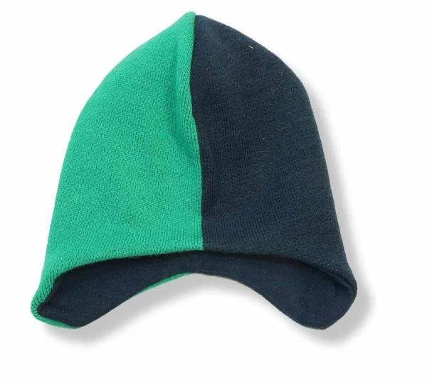 Minymo Wintermütze Strickmütze grün / indigo blau Td50