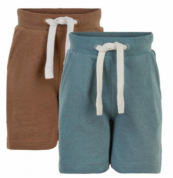Minymo Shorts 2er Pack toffee/teal Sweatshorts