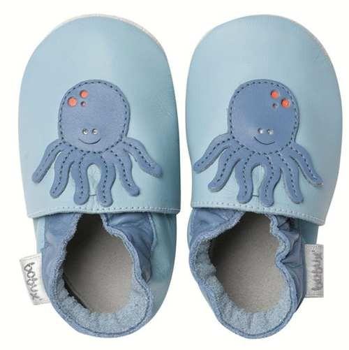 Bobux Krabbelschuhe Oktopus hellblau