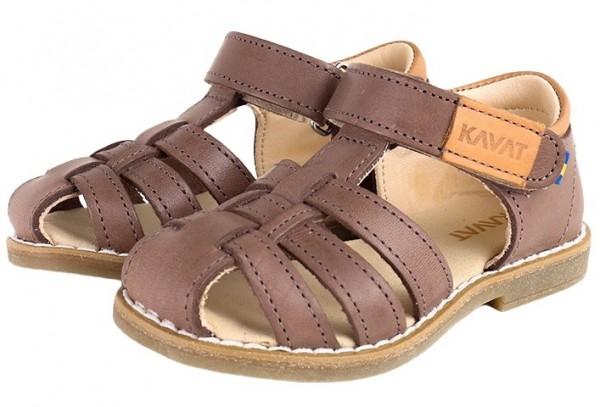 Kavat FORSVIK taupe Kinder Sandalen aus Ökoleder
