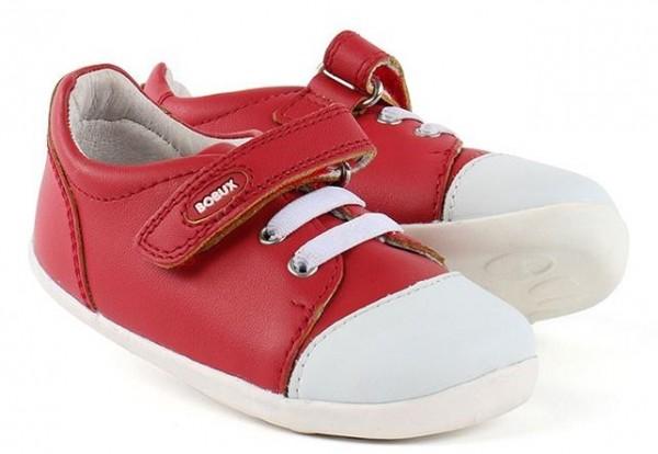 Bobux Step Up Lauflernschuhe Scribble rot/weiß