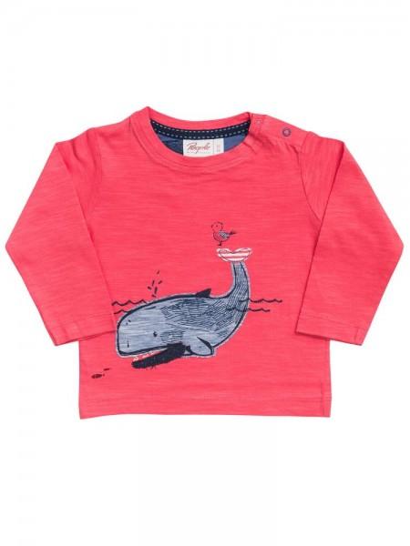 People wear Organic Langarmshirt hellrot Wal Biobaumwolle