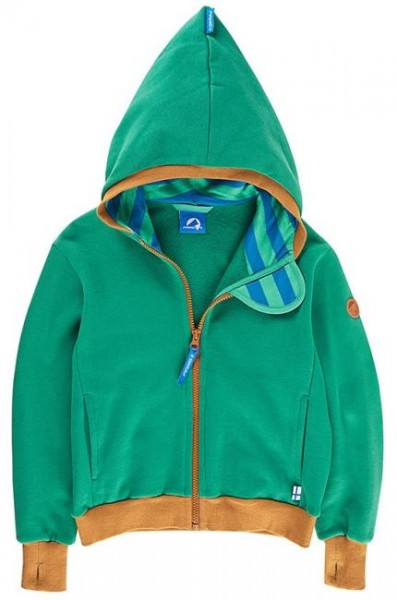 Finkid Pulssi jungle/cinnamon Sweatjacke Zip-In Jacke mit Kapuze