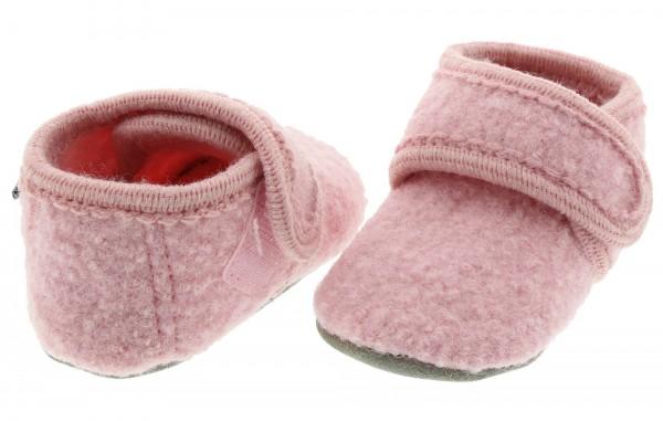 Celavi Hausschuhe hellrosa Wolle Kinderhausschuhe