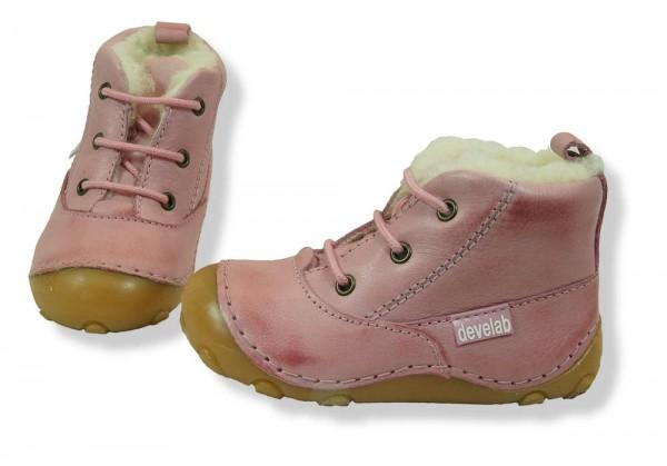 Develab Walki rosa pink Nappa Winter Lauflernschuhe gefüttert Leder extra weich