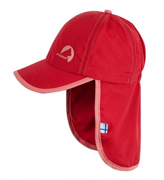 Finkid LAKKI red/rose Mädchen Sonnenmütze Cap mit Nackenschutz