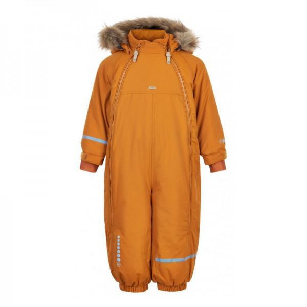 MINYMO Thermo Schneeanzug kürbis Overall mit Doppelzipper
