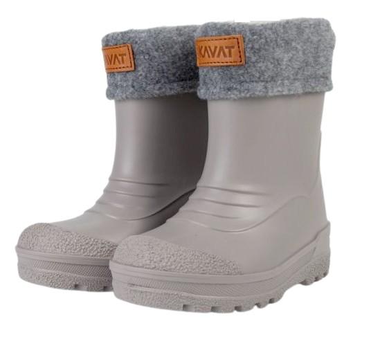 Kavat GIMO grau Winter Thermo Gummistiefel mit Wollfutter