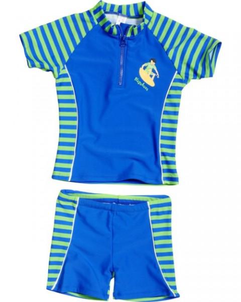 UV Schutz Anzug für Kinder Sonnenschutzanzug Zweiteiler Surfer blau/grün