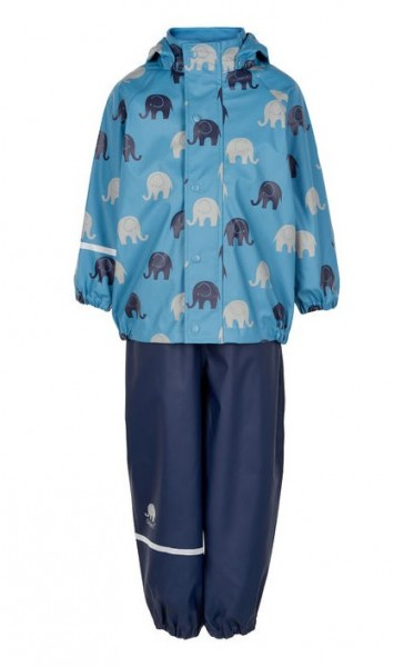 CeLaVi Regenanzug skyblue Elephants Set Regenhose + Regenjacke
