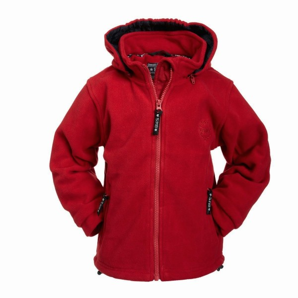 BMS Fleecejacke rot Antarctic-Fleece mit Kapuze