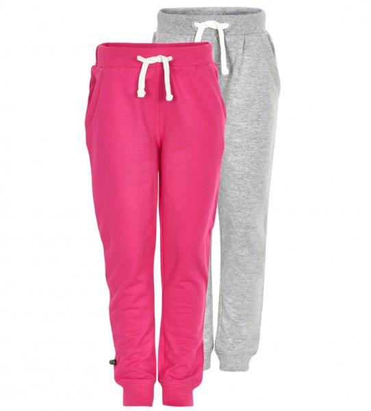 Mädchen Sweatpants pink/hellgrau im 2er Pack Jogginghose