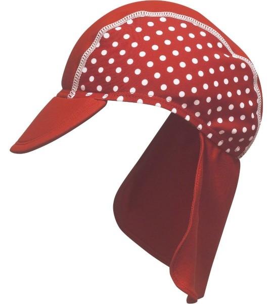 UV Schutz Beach Sonnenmütze rot Pünktchen