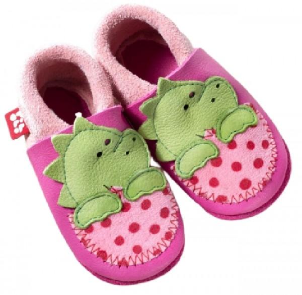 Pololo Mädchen Hausschuhe Dino pink/rosa