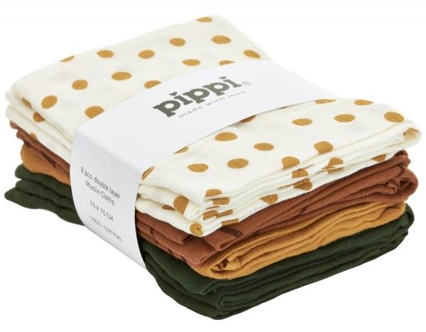 Pippi Mullwindeln maisgelb Dots 8er Pack