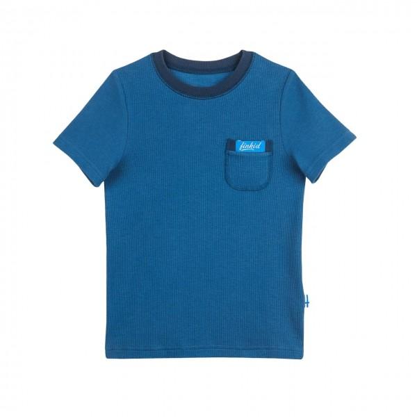 Finkid MIKSU T-Shirt denim/navy Feinripp UV-Schutz 50+
