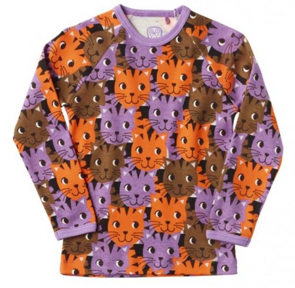 Ej sikke lej Langarmshirt Kitty Katze Camouflage African violett