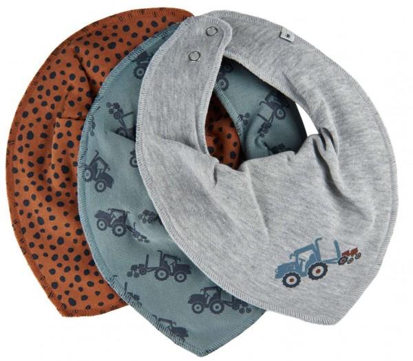 Pippi Baby Halstücher Traktor + Dots 3er Pack