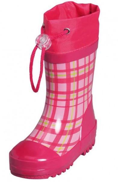 Gummistiefel aus Kautschuk Karo pink