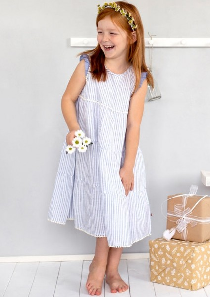 Schwungvolles Mädchen Sommerkleid Streifen Bio-Baumwolle