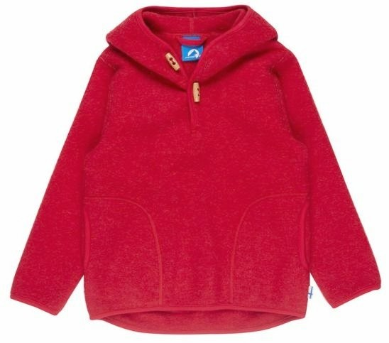 Finkid JUSSI WOOL Wollfleece Pullover persian red