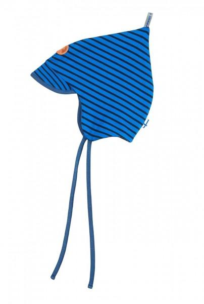 Finkid POPI SPRING blue/navy Jersey Zipfelmütze mit Sonnenschild