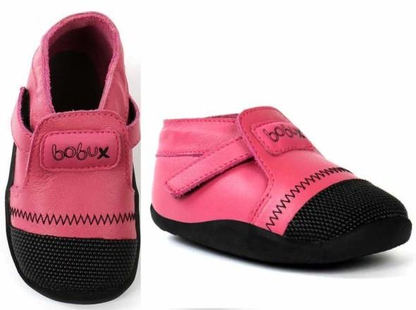 Bobux Xplorer Lauflernschuhe pink / schwarz