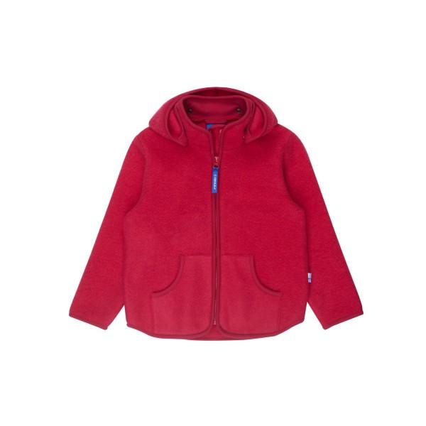 Finkid TONTTU SPORT WOOL persian red Wollfleece Jacke