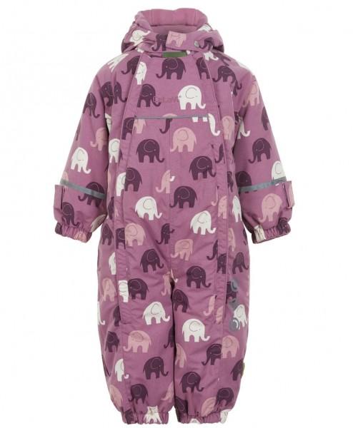 Celavi Mädchen Schneeoverall smoky rosa Elefanten
