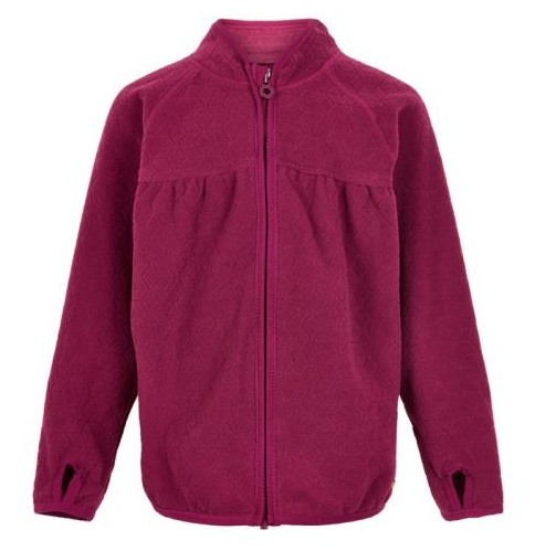 Minymo Fleecejacke red plum