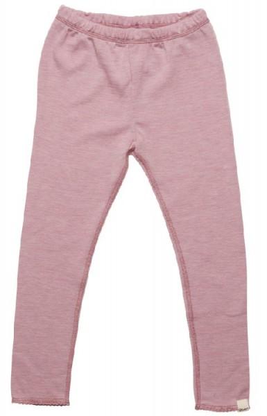 Celavi Legins lange Unterhose rosa melange Schurwolle