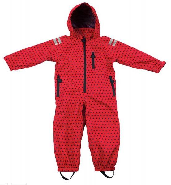 Ducksday Regenanzug atmungsaktiv rot Dreiecke Regenoverall Air bmb
