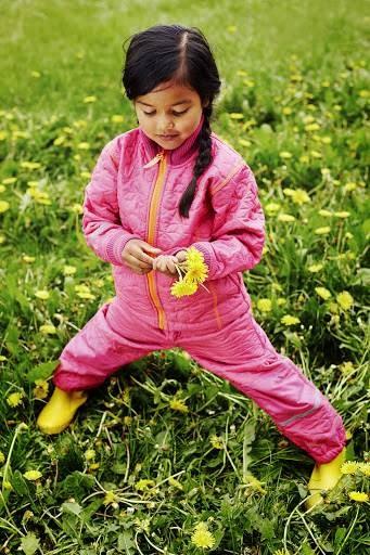 Celavi Thermoanzug Zweiteiler pink gesteppt mit Fleece-Innenseite