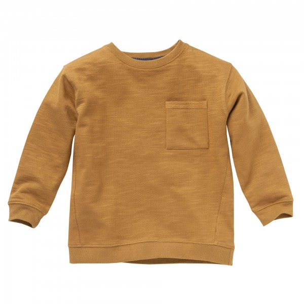 People wear Organic Sweat Pullover hellbraun