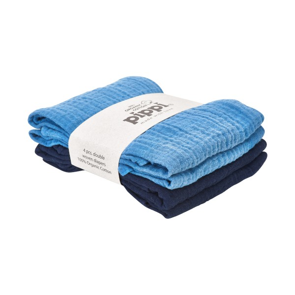 Pippi Mulltücher blau Organic