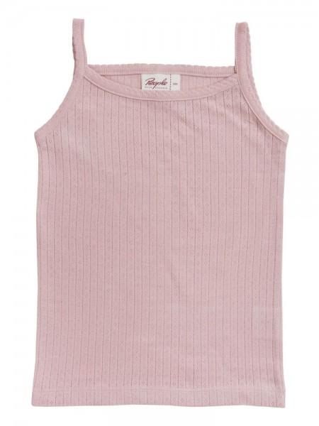 People Wear Organic Mädchen Unterhemd smoky rosa Ajour Bio-Baumwolle