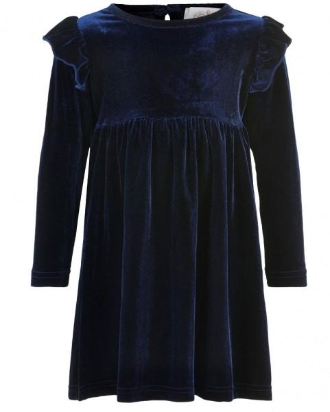 Creamie Mädchen Samtkleid dunkelblau