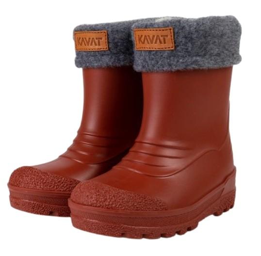 Kavat GIMO rust Winter Thermo Gummistiefel rostbraun mit Wollfutter