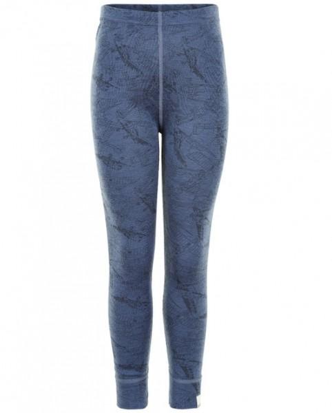 Celavi Jungen Leggings jeansblau Flugzeuge Unterhose aus Wolle