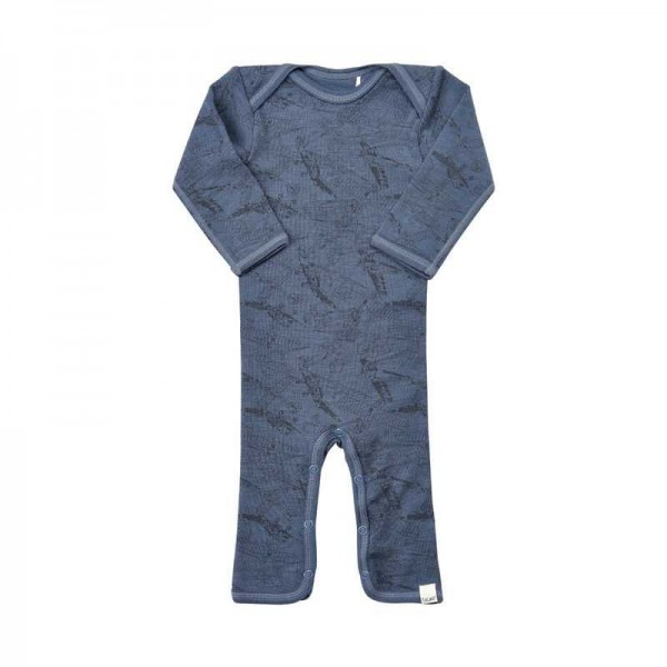 Celavi Overall Wolle Flugzeuge jeansblau melange