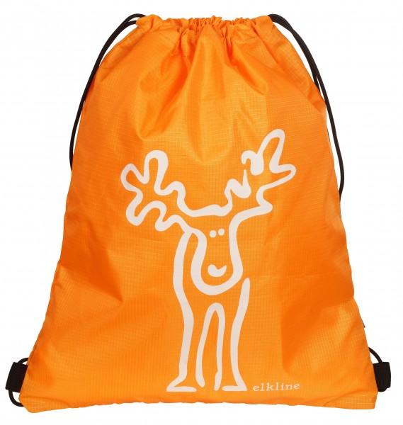 Elkline büdel Turnbeutel Sportbeutel orange mit Elch in rotbraun Nassbeutel