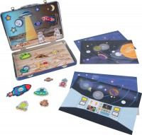 Spielkoffer Weltall Astronaut Magnetspiel für Kinder