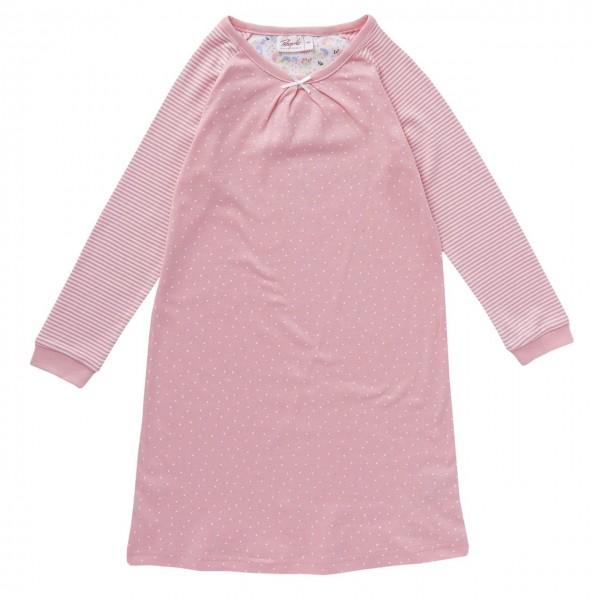 Mädchen Nachthemd rosa Dots + Streifen Bio-Baumwolle