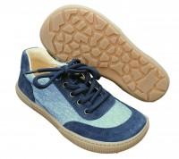 Koel Barfuß Sneaker Bastijan WEIT jeansblau Barfußschuhe