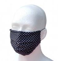 Mund- und Nasen-Maske für Erwachsene Punkte schwarz weiß